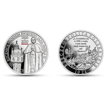 10 zł 100 Rocznica URODZIN Jana Pawła II srebro