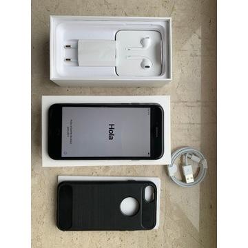 iPhone 7 czarny 32GB / nowe słuchawki i ładowarka