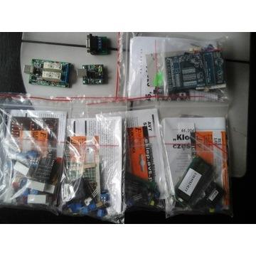 Moduły AVT Klocki RS485 RS232 USB 8 szt.