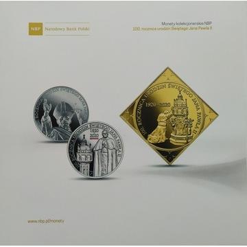 Folder do monety 100 rocznica urodzin Jana Pawła