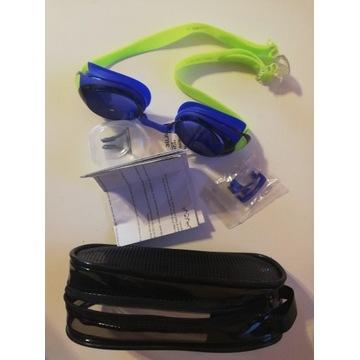 okulary pływackie komplet nowe