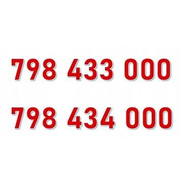 798 433 000 + 798 434 000 PARA ORANGE ZŁOTY NUMER