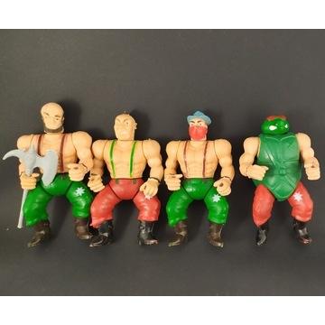 4 figurki Amicable Herculean-turtles retro vintage