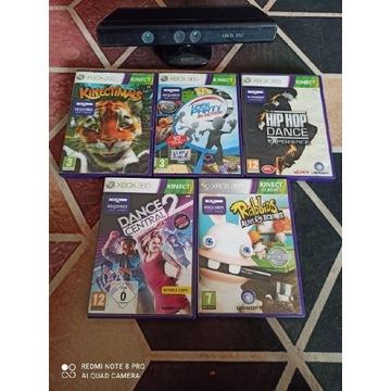 Kinect Xbox 360 z grami