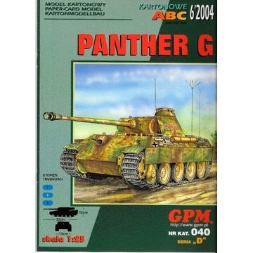 GPM 6 2004 Nr.040 PANTHER G model 1:25 modelarz