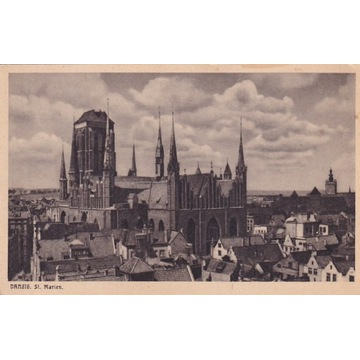 Pocztówka - Gdańsk (Danzig) - St. Marenkirche