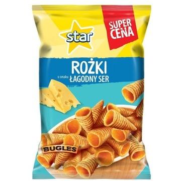 Star chips  rożki o smaku Łagodny ser