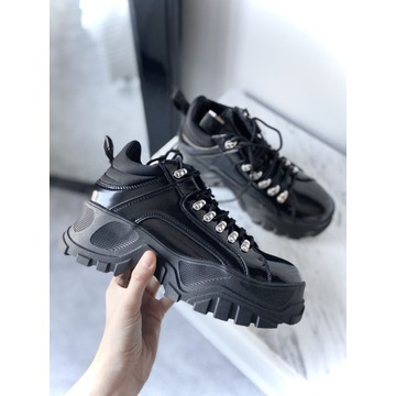 Buffalo Fina sneakersy skórzane platforma 39