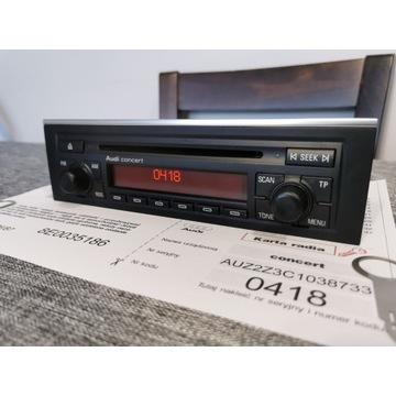 Radio Concert Audi A4 B6 B7 KOD*Klucze*Sprawne100%