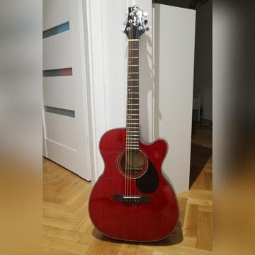 Gitara akustyczna Samick OM-4CE/TR - gotowy zestaw