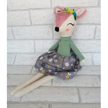 Sarenka maskotka handmade 46 cm roczek prezent