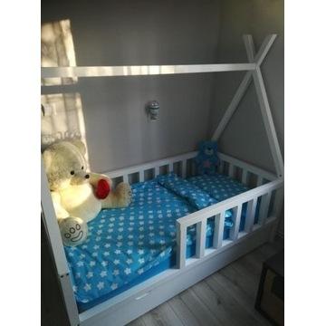 Łóżko dziecięce sosnowe tipi 80x160 z szufladą