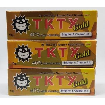 TKTX Gold 40% Mocna masc tatuaz znieczulajaca 3szt
