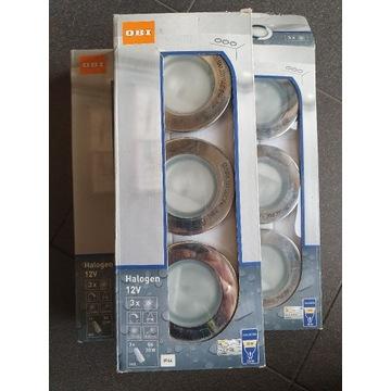 lampa do zabudowy IP44 chrom 3 halogenki OBI nowe