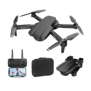 Dron E99 PRO2 kamera HD WiFi FPV zasięg 100m 2xAKU