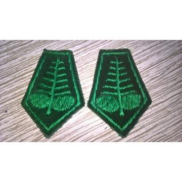 Dystynkcje Patki myśliwskie zielone z szyszkami