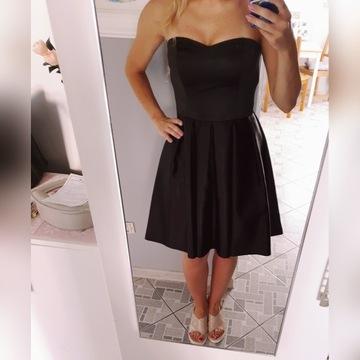 Sukienka wieczorowa Mohito rozm 38 czarna satyna