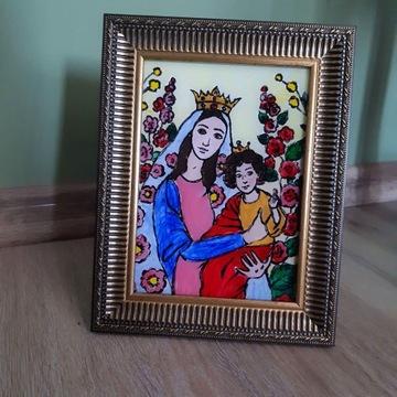 Obraz na szkle ręcznie malowany