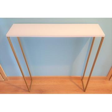 Konsola złota 80x20x80 toaletka półka stolik loft