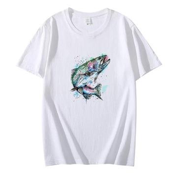 Koszulka t-shirt wędkarz ryby lato wędkowanie