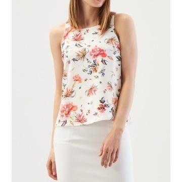 Top koszulka bluzka w kwiaty Reserved 38 M