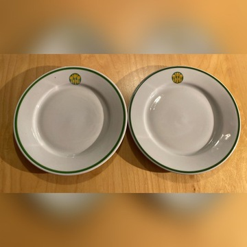 Talerz deserowy Lubiana- logo Społem