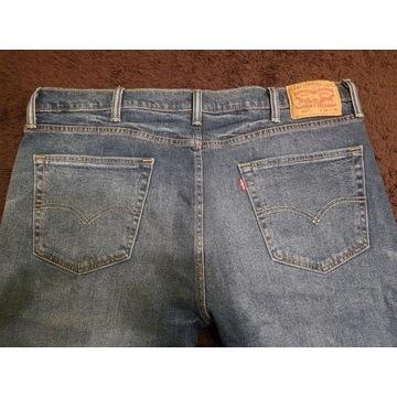 Levi's 502 W38 L30 spodnie jeans niebieskie