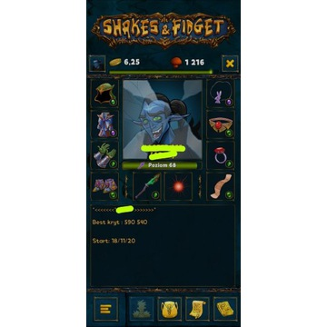 Shakes&Fidget W44 68lv *1200 GRZYBA*