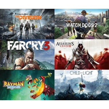 WATCH DOGS 2, DIVISION, FAR CRY 3 - 8 GIER