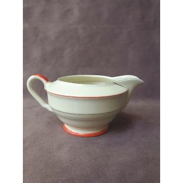 Mlecznik porcelana sygnowany art deco prl