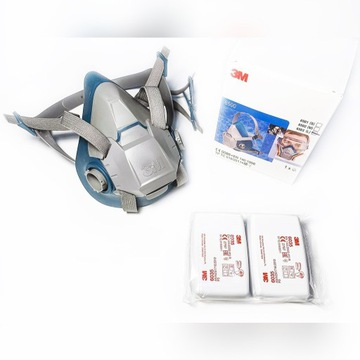 3M Maska 6503 z USA + Filtropochłaniacze 6035 P3