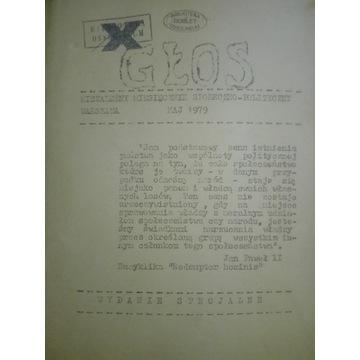 L GŁOS  maj 1979  solidarność bibuła drugi obieg