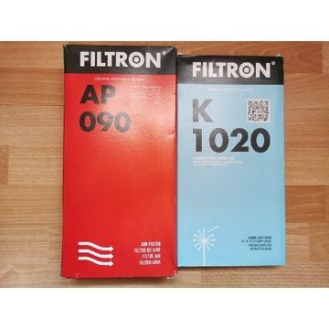 Filtr powietrza AP090 oraz filtr kabinowy K1020