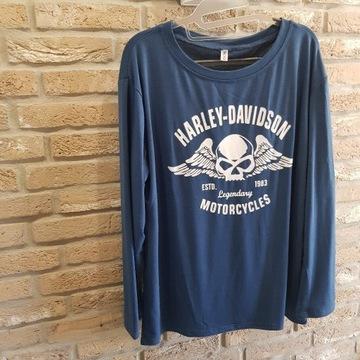 Koszulka z napisem Harley Davidson Dl.rekaw