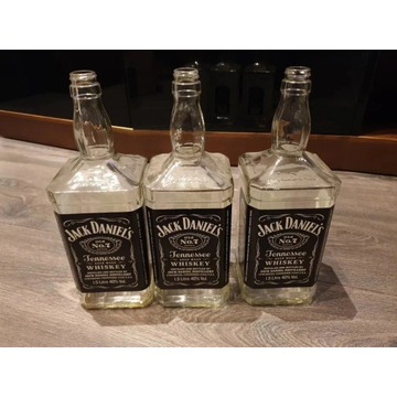 Butelki Jack Daniels 2x1,5l i 1x1,0l
