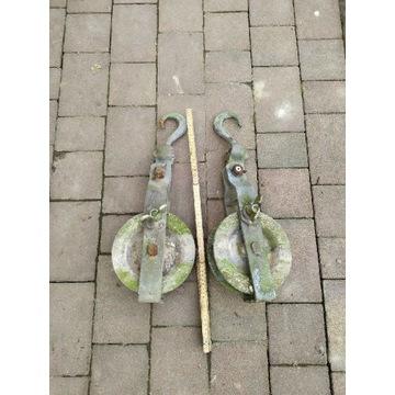 Zblocze linowe z hakiem