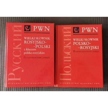 Wielki słownik Polsko-rosyjski Rosyjsko-polski PWN