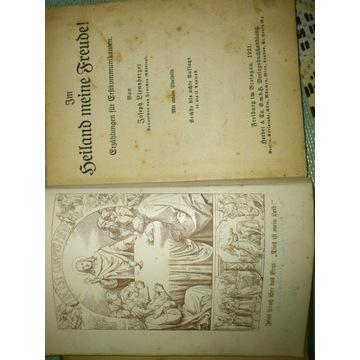 Stara niemiecka książka z 1921r