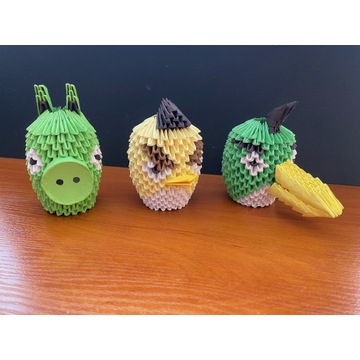 Origami modułowe ptaki Angry Birds