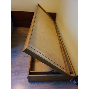 Łóżko drewniane ze skrzynią na pościel 90 cm x 190