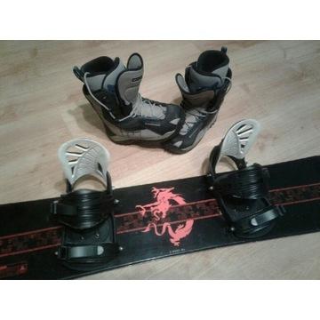 Komplet Snowboard 132+buty 40.5 Solomon