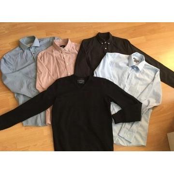 paka zestaw męskie 4. sztuk koszul + sweter