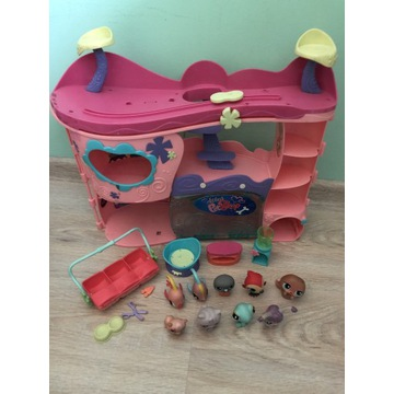 ZESTAW LPS Littlest Pet Shop domek+figurki+dodatkk