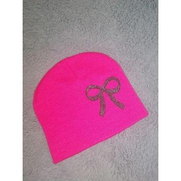 Komplet zimowy czapka i rękawiczki biały