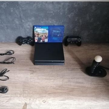 PS4 SLIM CZARNY 400 GB+FAR CRY5+CALL OF DUTY GHOST