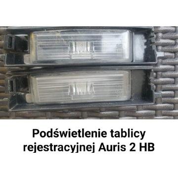 Lampki tablicy rejestracyjnej Auris 2 HB