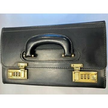 Skórzana torba / kufer lekarski |PRESTO| na szyfr