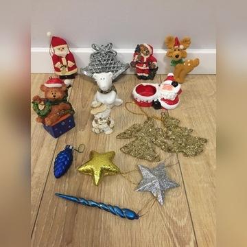Dekoracje ozdoby świąteczne komplet