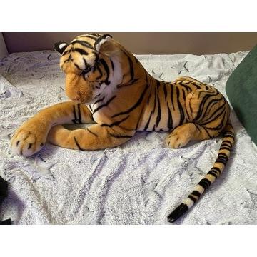 Pluszowy tygrys jak żywy 80x40cm