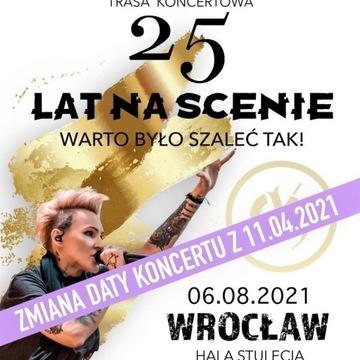 Agnieszka Chylińska 06.08.2021 Wrocław - 2 bilety